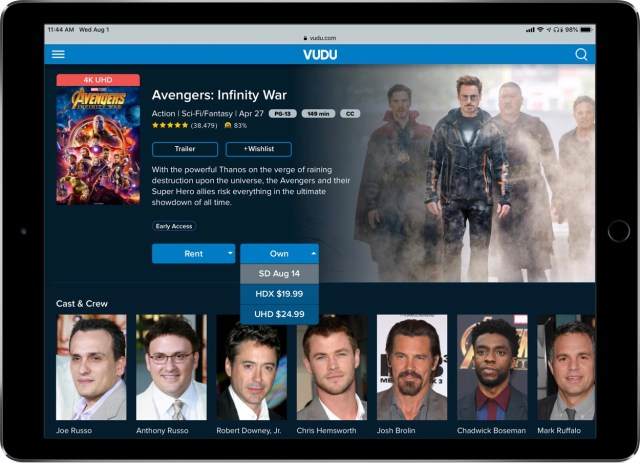 How to buy Disney/Marvel/Star Wars movies to watch on Apple