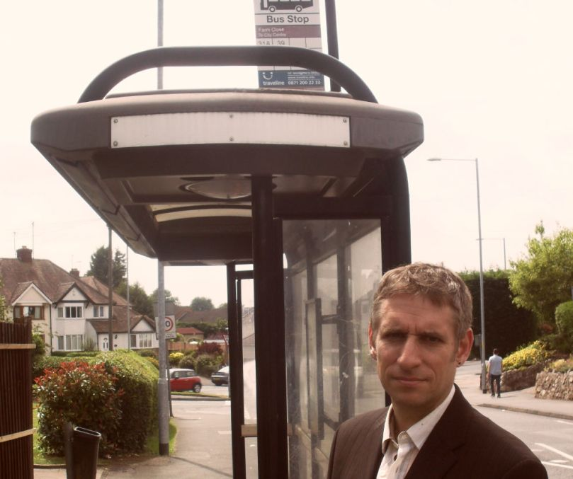 Matt by bus stop
