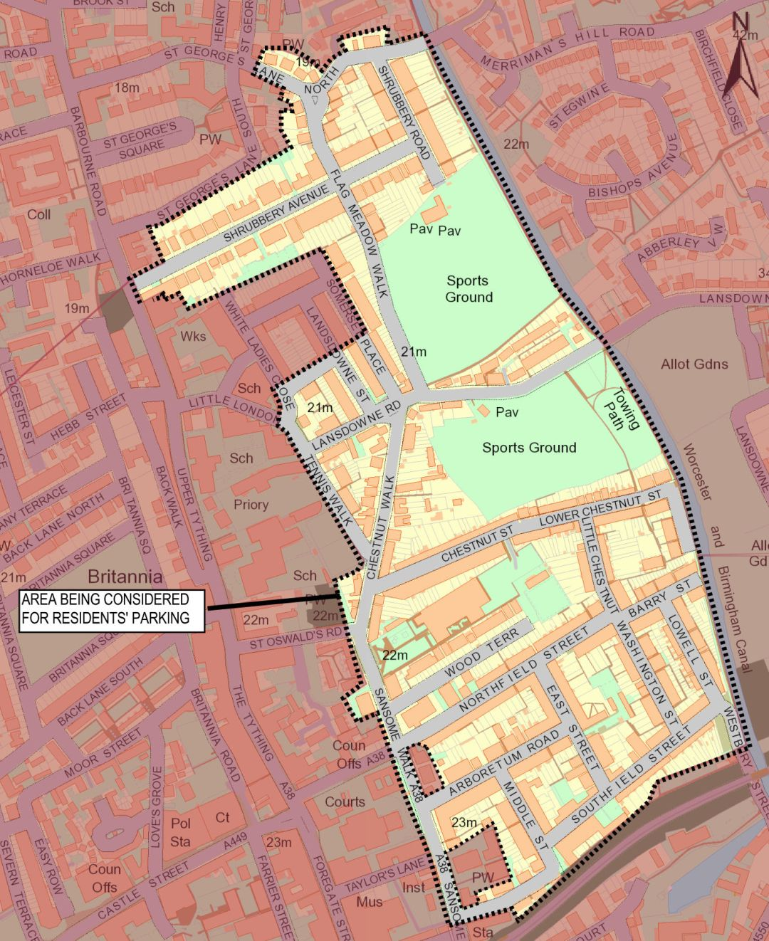 Residents' parking scheme