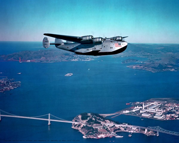 Boeing 314 over San Francisco