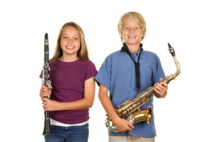 saxophone and clarinet students