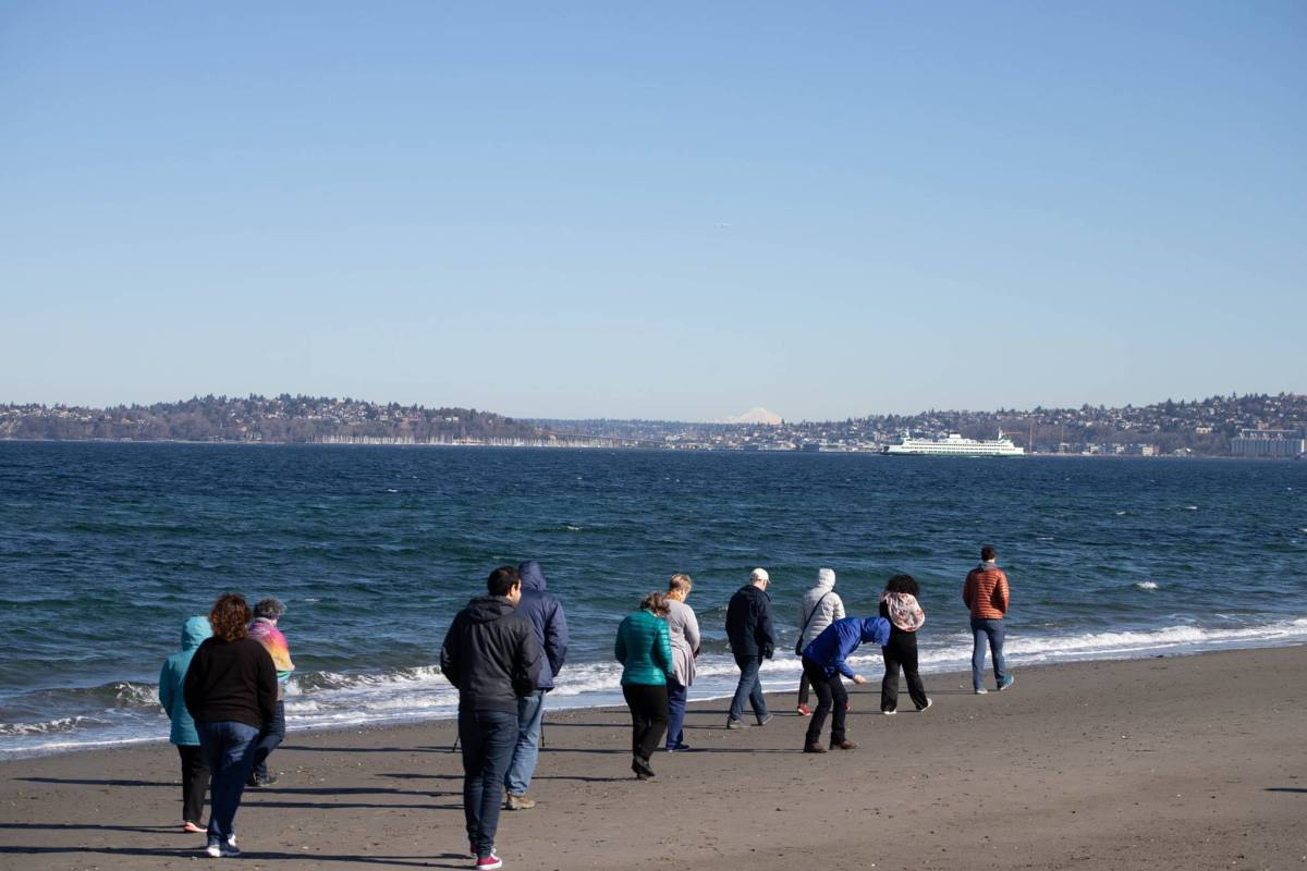 walking Alki Point, Seattle with Matthew Whitney