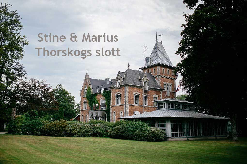 Norwegian wedding at Thorskogs slott
