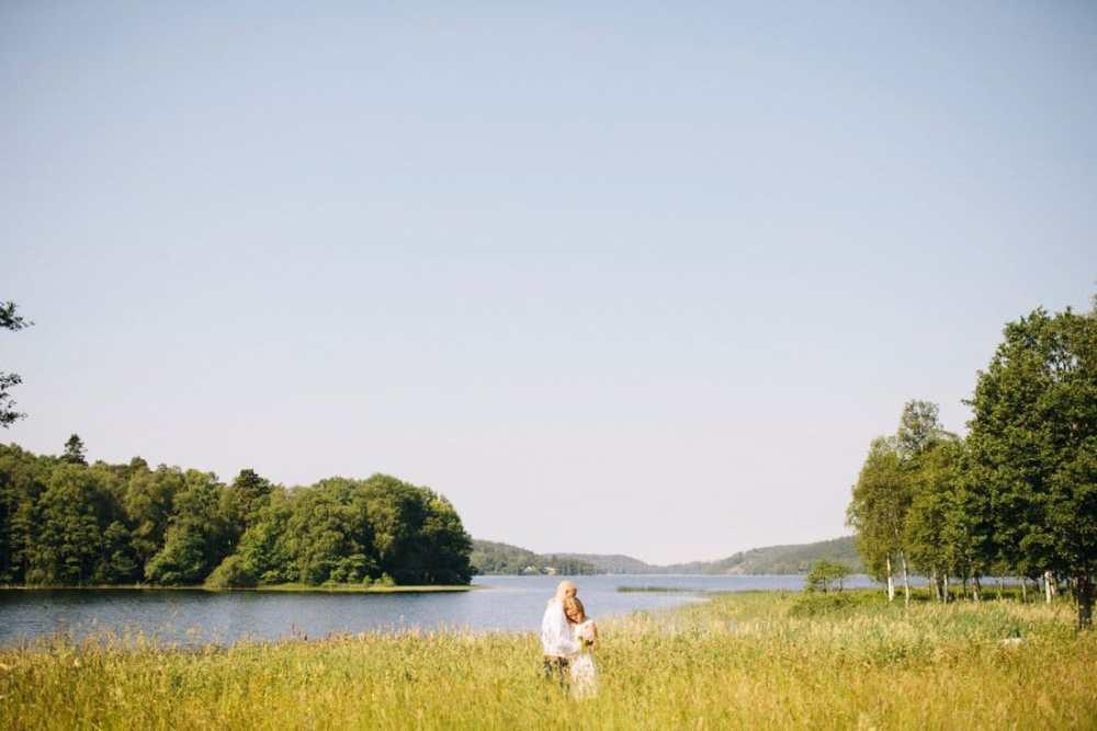 porträtt bröllop sommaräng