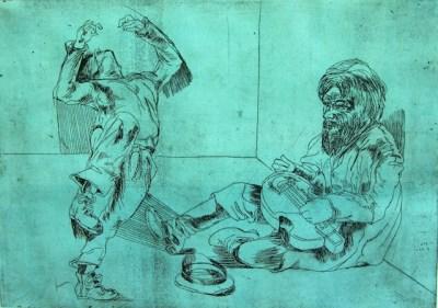 Dancer and Beggar