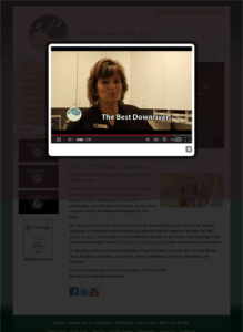 DrLanzetta.com Home page with an Embedded YouTube Video in a Pop-Up Window