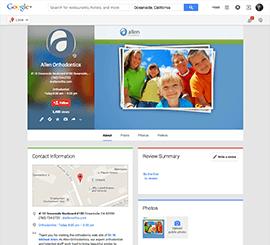 Allen Orthodontics Google+