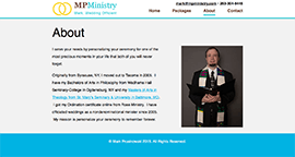 MP Ministry - Desktop About page