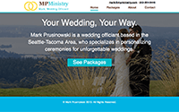 WordPress Website for Mark, Wedding Officiant