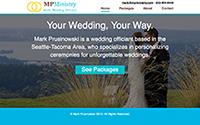 WordPress Website for Mark, Wedding Officiant