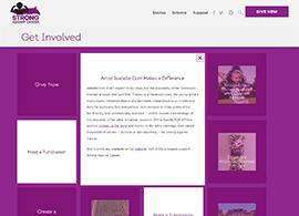 Strong Against Cancer - Desktop Get Involved Page