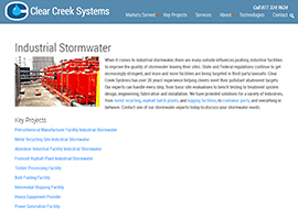 Clear Creek Systems Stormwater Desktop Page