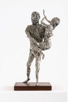 Tin Foil Sculpture (Pluto and Prosperpina), 2014