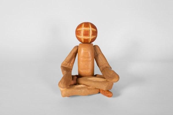 Bread Figure (Sitting Cross-Legged), 2018