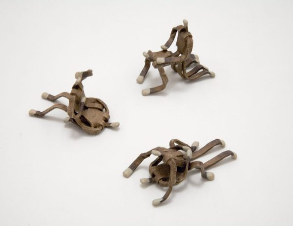 Matches, 2006 Cast bronze with oil paint 1.25 x 2 x 1 inches, 1.75 x 1.75 x 0.88 inches, and 1 x  2.25 x 1 inches