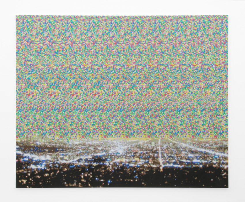 Magic Eye III, 2008 Acrylic on canvas 136 x 114 inches