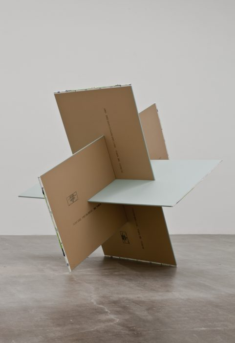 Dodecahedron, 2011 Plywood, paint and paper 96 x 96 x 96 inches