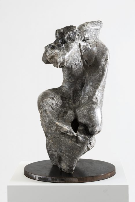 Marble Torso, 2012 Marble, steel 31 x 18 x 16 inches