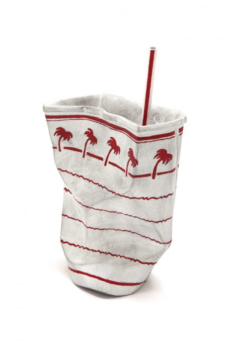 In-N-Out Cup #11, 2017 Carved wood with paint 9 x 6 x 3.13 inches