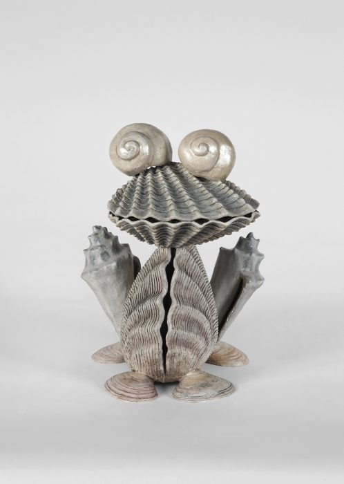Shell Frog, 2018 Painted bronze 18 x 14 x 13 inches