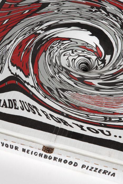 Black Hole Pizza Box, 2018 Detail