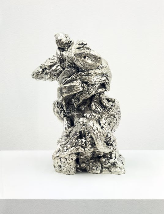 Equestrian, 2006 Cast bronze with silver plating 12 x 15 x 7.5 inches