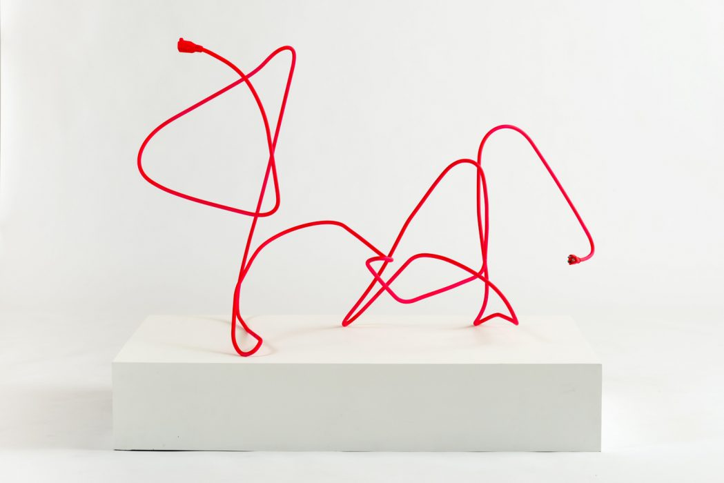 Extension Cord 6 (Free Radical), 2015 Mild steel with rubberized paint 35.5 x 50 x 31 inches