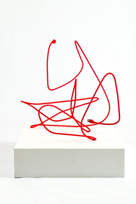 Extension Cord 7 (Free Radical), 2013 Mild steel with rubberized paint 29 x 45 x 29.5 inches