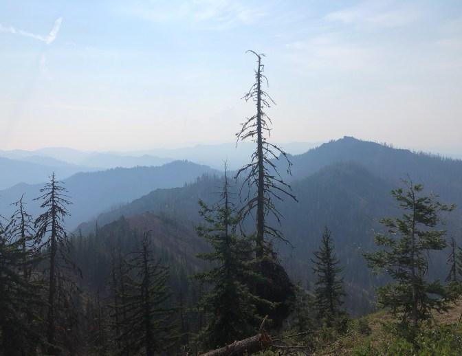 Smoky views on the way toward Malcolm.