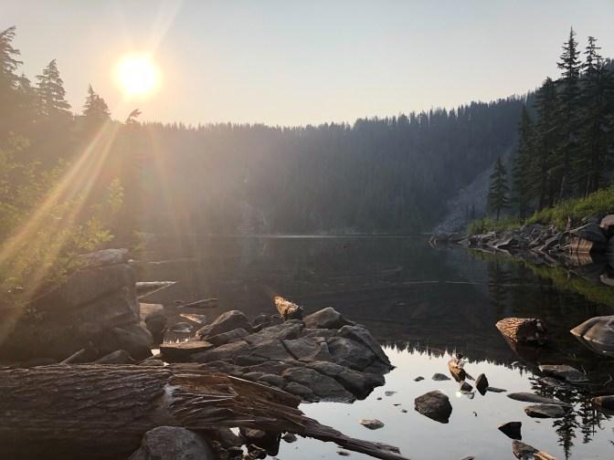 Sun rising over Mason Lake