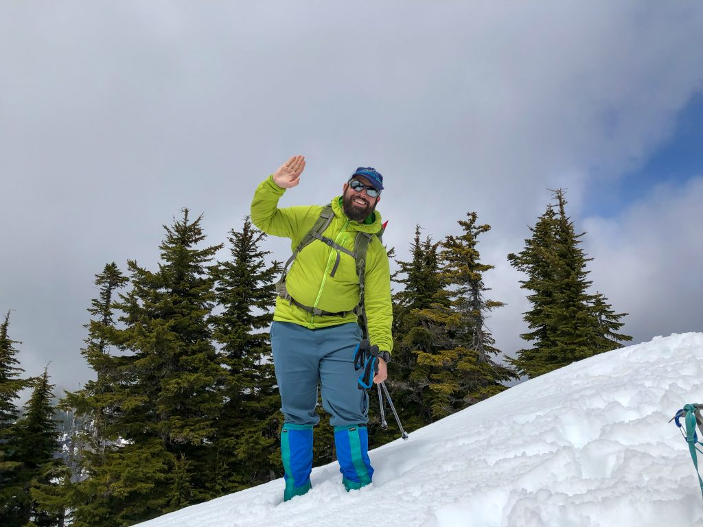 """Hi, mom!"" from the summit of Pratt Mountain."