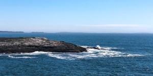 Waves crashing in on the Atlantic