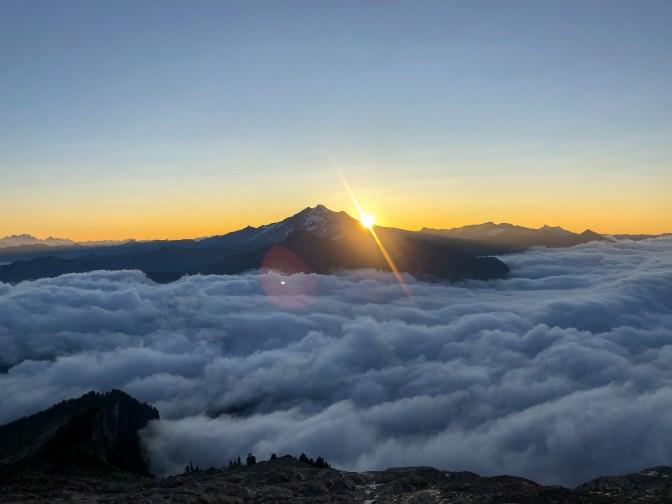 Nice view of Glacier Peak at sunrise.