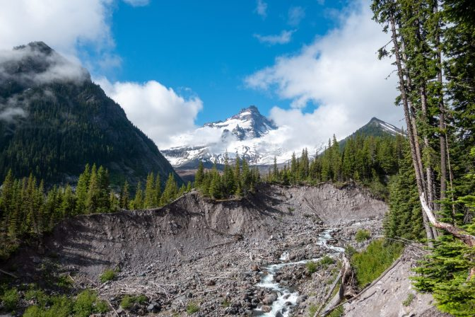 First views of the alpine. Little Tahoma