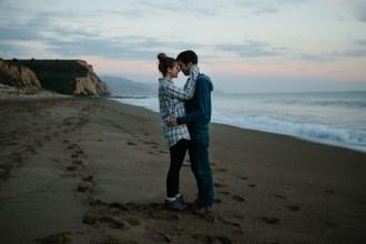 A kiss at sunset