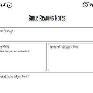 Prayer Notes Template - Matt McChlery Ministries