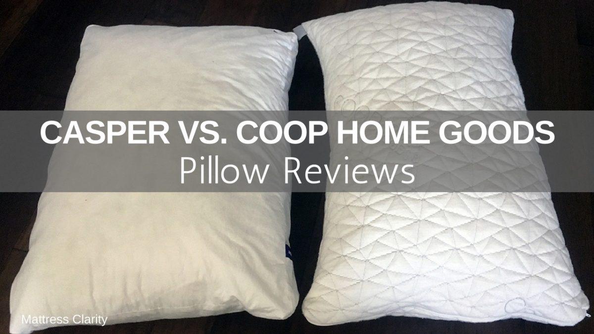 pillow reviews casper vs coop home