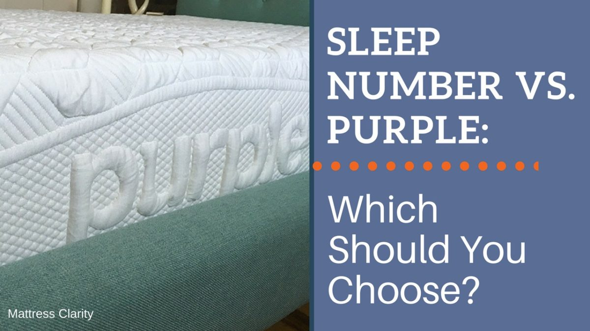 sleep number vs purple which should