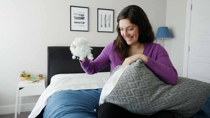 eli elm pillow review shredded foam