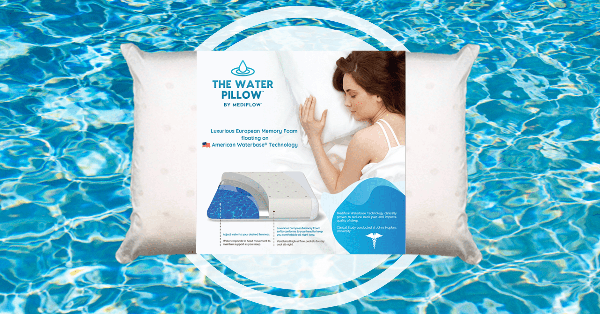 mediflow water pillow does this water