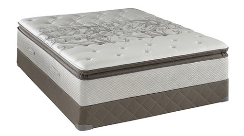 Queen Sealy Posturepedic Plush Euro Pillowtop Mattress Set