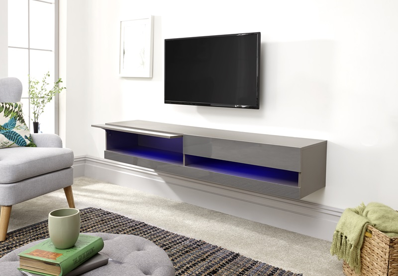 galicia 150cm wall tv unit with led