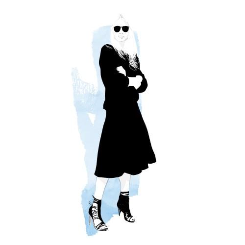 fashion illustration using whitespace