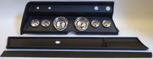 1966 Chevelle Complete Black 6 Gauge Panel with AutoMeter