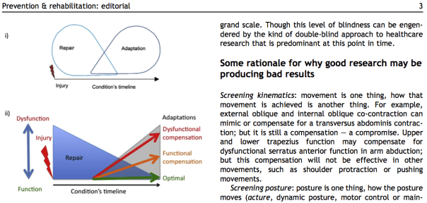 Lederman's repair-adaptation model, and a more comprehensive model proposed in the editorial.
