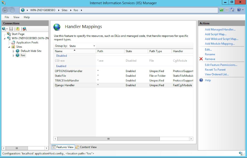 Running a Django Application on Windows Server 2012 with IIS