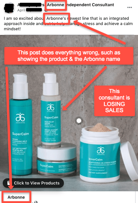 the wrong way to make money with Arbonne