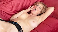 Granny Molly Maracas fucked in the ass by her step-son