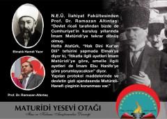 """""""Mâtürîdilik Türklerin tabiatına uygun"""""""