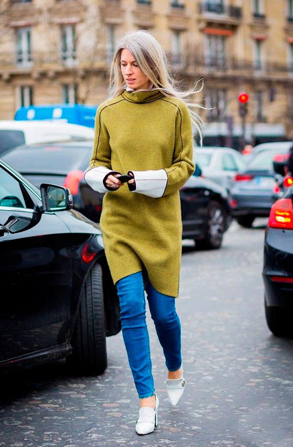 street-style-look-calca-jeans-com-vestido-verde-salto-branco